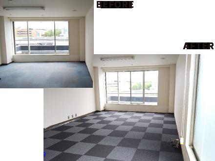 東京都港区のNo.1オフィスデザインのオフィス移転 カーペット貼り替え