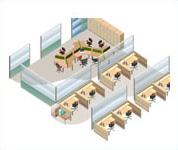 東京オフィス工事3Dデザイン