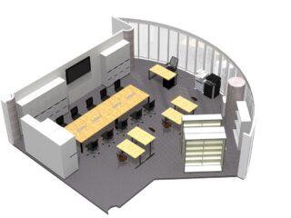 茨城県 オフィス家具(従業員10名)