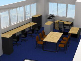 東京都品川区 オフィス家具(従業員7名)