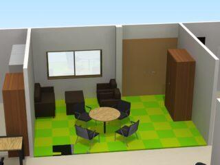東京都江東区 床貼り替え、オフィス家具(従業員15名)