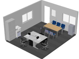 千葉県 オフィス家具(従業員3名)