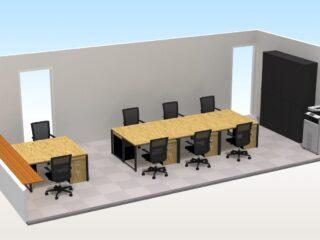 東京都港区 オフィス家具(従業員8名)