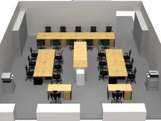 東京都千代田区 オフィス家具(従業員30人)