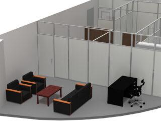 千葉県 パーテーション、オフィス家具(60名収容セミナールーム)